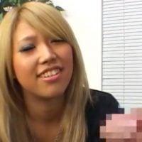 素人黒ギャルのセンズリ鑑賞
