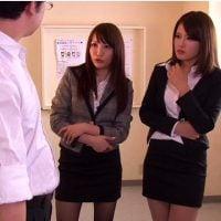 女教師の体罰で連続射精