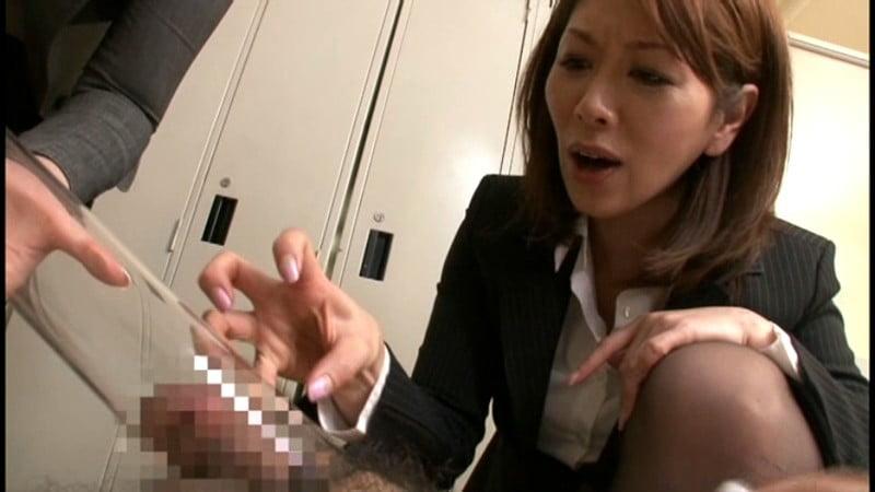 女教師の包茎チンポいじめ
